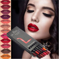 12PCS Women Waterproof Lipstick Lip Liner Long Lasting Matte Lipliner Pencil Set