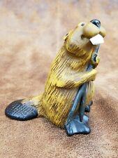 "Bearfoots Big Sky Carvers Figurine ""Sassy"" the Beaver 3.5"" by Jeff Flemming"