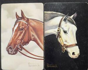 Swap cards vintage - PAIR OF GENUINE VINTAGE HORSES