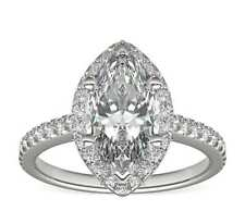 4ct Marquise Ring Solid 925 Sterling Silver Ring RSG 400