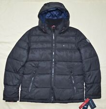 e7e65bb38328 Medium M Tommy Hilfiger Mens Quilted Padded Puffer Winter Jacket Coat Black