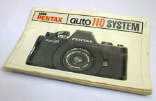 PENTAX Auto 110 System camera Operating Manual Instruction Guide EN