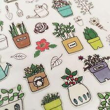 Planta de suatelier Kawaii Pegatinas Papelería Cactus planificador de jardín hoja de álbum de recortes