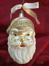 FLAWLESS Exceptional WATERFORD Ireland Christmas SANTA Blue Eyes ORNAMENT