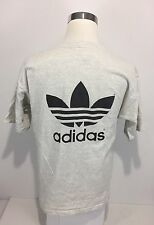 Adidas Men's Large T Shirt Gray Trefoil Vintage 90s Soccer University Texas Rare