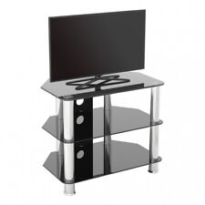 """TV Stand Modern Black Glass Unit for up to 32"""" inch HD LCD LED Curved TVs - 60cm"""