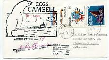 1981 CCGS Camsell Arctic Patrol Canada Icebreaker Polar Antarctic Cover SIGNED