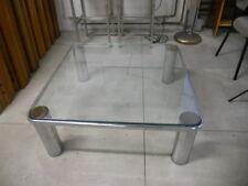 Tavolino da salotto anni '70 vetro e cromo - italian coffee table