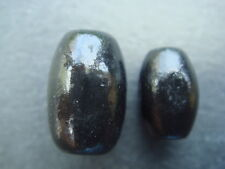 Black oval wood beads - various amounts available - 10mm & 12mm
