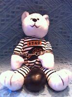 "NOS ELVIS PRESLEY ""JAILHOUSE ROCK"" INMATE #6240 BEANIE BEAR"