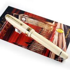 Conway Stewart 100 Series Ivory Casein W/Gold Trim Fountain Pen - Fine Nib