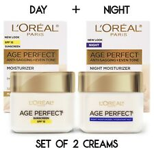 L'Oreal Paris Age Perfect Mature Skin Day Cream + Night Cream NEW 2020 Packaging
