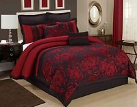 8 Piece Tang Jacquard Fabric Patchwork Comforter Set Queen King CalKing Size