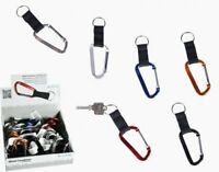 CARABINER CLIP KEYRING WITH STRAP Outdoor/Belt/Loop/Key Chain/Holder/Karabiner