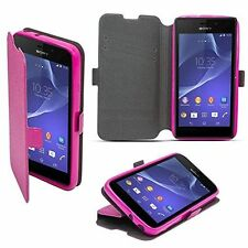 3 Book Case Flexi hülle Schutzhüle Etui Handy Tasche Cover HTC One A9s Pink