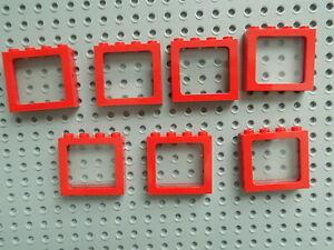 Lego Rojo Transparente Cristal De Roca 1x1 5 punto 5 piezas nuevas!