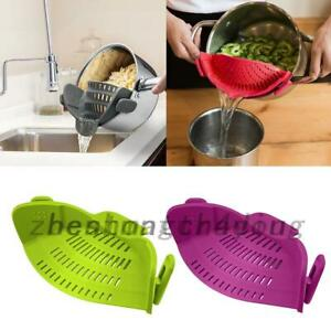 Pot Pan Silicone Drainers Strainer Water Filter Sieve Colander Kitchen Tool