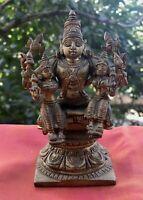 Vishnou Statue antique indienne Bronze Déesses Bhu Sri hindou Inde Vishnu Asie A