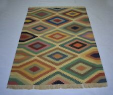 Cotton Multi Color Handmade 4x6 Feet Area Rug Geometric Carpet