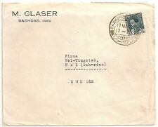 RARE COVER BAGHDAD IRAQ TO SWEDEN. 1938. L340