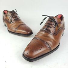 Magnanni Mens Quality Dress Shoes Medallion Brown Cognac Size 10 Classic 13975