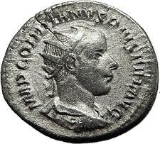 "GORDIAN III 241AD Rome Ancient Silver Roman  Coin ""Farnese"" Hercules i59151"