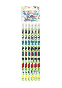 6 x GAMER GAMING Pencils Girls Boys Kids  Party Bag Fillers School Stationery