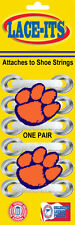Clemson Tigers Mascot Paw Shoe Lace Accessory (Logo attaches to shoe strings)
