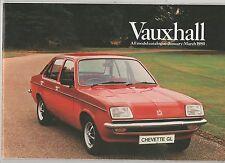 Vauxhall Jan-Mar 1980 Chevette Cavalier Carlton Royale Original Sales Brochure