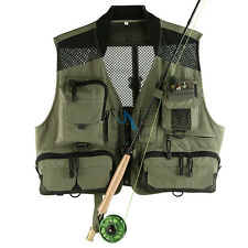 Fishing Hiking Mutil-pocket Super Light Breathable Mesh Vest Free Size