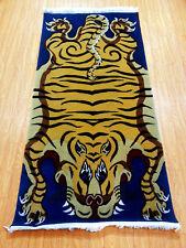 Tiger Rug Area Carpet Room Floor Medium Size 5ft Orange Skin Pelt Made in Nepal