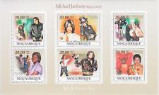 Michael Jackson Timbre Feuillet Lot Timbres MOZAMBIQUE Stamp Stamps Set 2009