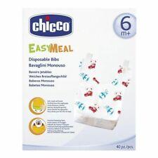 Chicco Easy Meal Bavaglini Monouso 40 Pezzi - Multicolore