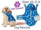 Free Country Whisper Blue Camo Dog Raincoat Rain Parka Jacket Sizes XS, S, M NEW