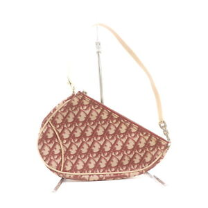 Christian Dior Hand Bag Trotter Saddle Pouch Reds PVC 2401965