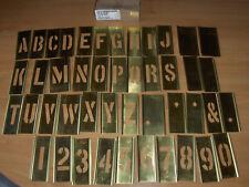 Orig.US Army Stencil Set Marking Buchstaben Schablone Messing 2 Inch/5cm neuwert