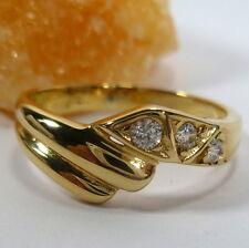 54 (17,2 mm Ø ) ANILLO EN 585 / 14k Oro Con Circonia Piedras