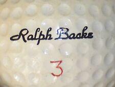 1968  RALPH BACKE #3  SIGNATURE LOGO GOLF BALL