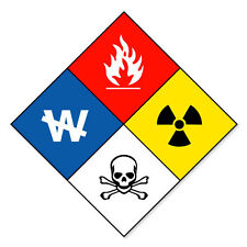 HAZMAT Hazardous Materials Danger sticker decal 5