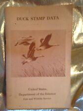 Duck Stamp Data Circular U.S. Dept. of Interior 1934-1967 Very Good