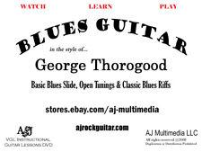 Custom Guitar Lessons, Blues Slide, Thorogood Style - Dvd Video
