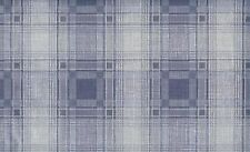Wallpaper Denim Blue Country Plaid