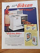 1948 Gibson Electric Range Refrigerator Ad