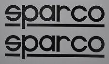 Sparco logo, Sponsor Badge Vinyl Decal - 200 x 50mm Pair