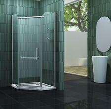 FIVE 90 x 90 x 195 cm Fünfeck Duschkabine Glas Dusche Duschwand Duschabtrennung