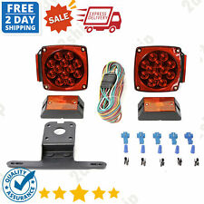 New listing Rear Led Submersible Trailer Truck Boat Marker Tail Light Kit MaxxHaul 70205