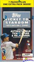 2009 Topps Ticket to Stardom Baseball Factory Sealed Blaster Box!  Rare!