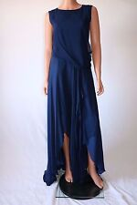 Haute Hippie Blue Keyhole Back Wrap Long Dress