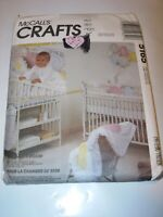 INFANT CRAFTS UNCUT MCCALLS 5165 Sewing Pattern BABYS ROOM QUILT BUMPER PILLOW