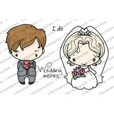I DO-The Greeting Farm Cling Mount Rubber Stamp-Anya/Ian Wedding-Bride/Groom